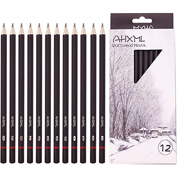 HB Pencils School Office Craft Art Drawing Sketching triangle shape easy to hold