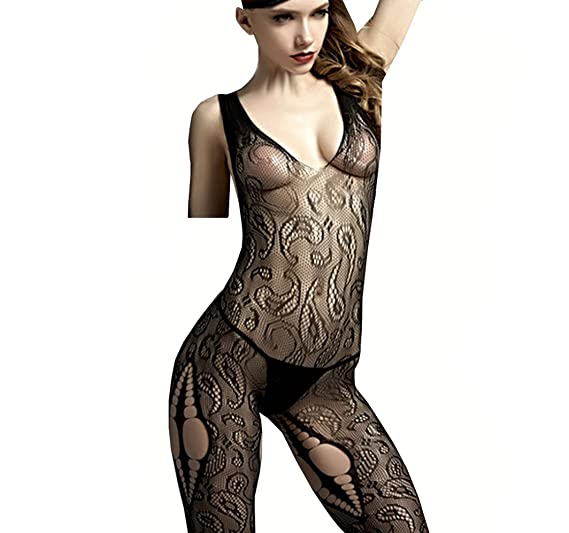34572a19022 Image Unavailable. Image not available for. Color  Long-Perfect Sexy  Lingerie Fishnet Body Stockings Vest ...