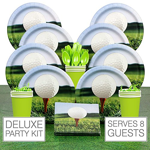 Costume Supercenter BBKIT703 Golf Party Deluxe Tableware Kit