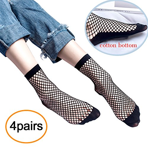 (Women's Fishnets Ankle Socks,Ladies Ultra Thin Microfiber Stretchy Sheer Fishnet Sock For Women (s-small))