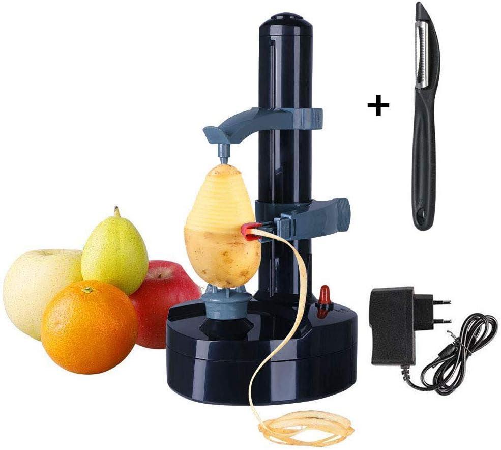 Vicloon Éplucheur Electrique avec Adaptateur,Multifonction Cuisine Automatique Épluche pour Pommes de Terre,Fruits et Légumes