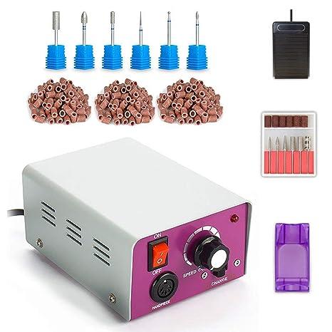 Torno para uñas Paquete máquina de pulido de uñas eléctrica bajo ruido y baja vibración Manicura