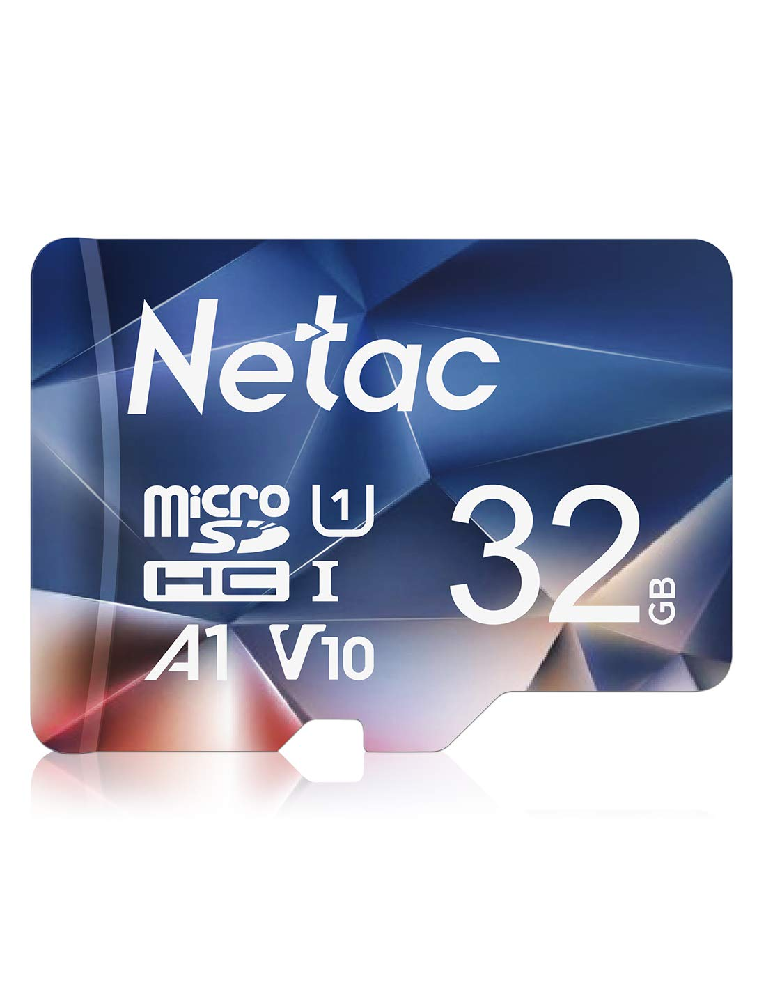 Netac 32GB Micro SD Card, MicroSDHC UHS-I Memory Card - 90MB/s, 600X, U1, C10, Full HD Video V10, A1, FAT32, High Speed Flash TF Card P500 for Laptop/Bluetooth Speaker/Tablet/Drone/Smartphone/Camera