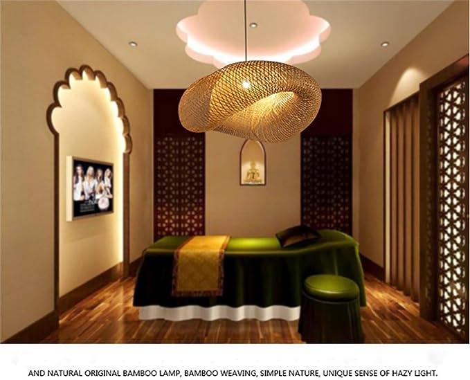 Xydm Pendelleuchten Retro Sudostasiatischer Stil Bambus Rattan