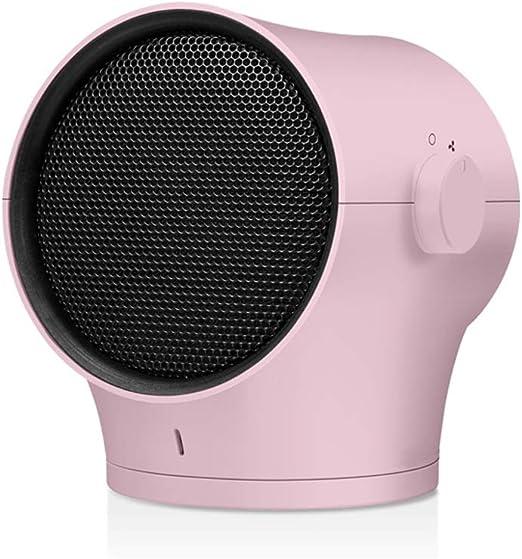 GXDHOME Calefactores Calentador, Estudiante de bajo Consumo, pequeño Dormitorio de Escritorio, Mini Ventilador de Aire Caliente para Uso doméstico (Color : Pink ...