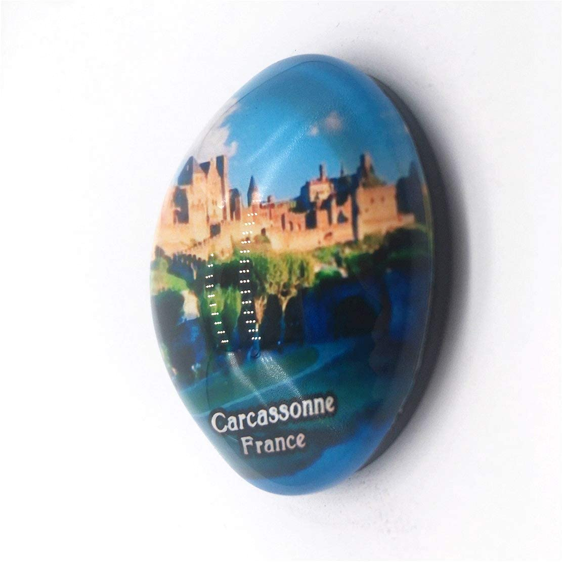 Weekino Souvenir Castillo de Carcassonne Francia Imán de Nevera Cristal 3D Cristal Recorrido de Recuerdos de la Ciudad de Turismo Regalo Fuerte Etiqueta Engomada del refrigerador: Amazon.es: Hogar
