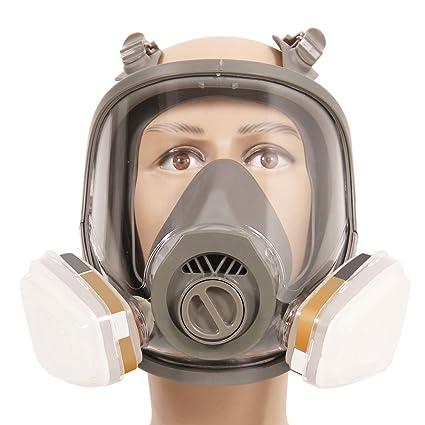 Máscara de gas 7 en 1 antivaho 6800, para toda la cara, máscara respiratoria