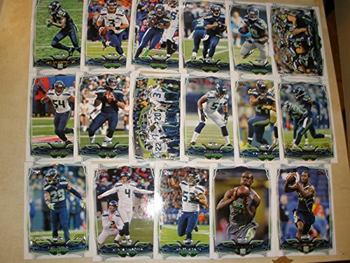 2014 Topps Seahawks 17 Card Set Shipped in an Acrylic Case - Team SET Includes: Paul Richardson, Russell Wilson, Sidney Rice, Percy Harvin, Derrick Coleman, Seattle Seahawks, Bobby Wagner, Terrelle Pryor, Seattle Seahawks Super Bowl, Bruce Irvin, Marshawn Lynch, Richard Sherman, Earl Thomas, Steven Hauschka, Malcolm Smith, Dion Bailey, Kevin Norwood