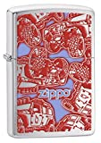 Zippo Lighter: Pop Art Zippo Jeep - Brushed Chrome 78063