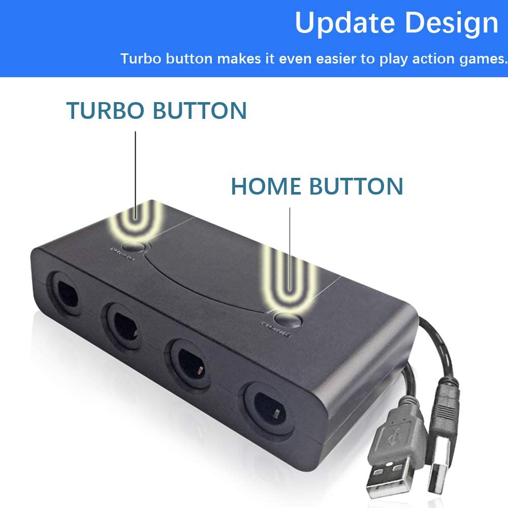 Amazon com: Gamecube adapter for switch,Wii U GameCube