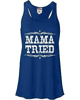 844f02bbf Womens Mama Tried Retro Country Music Flowy Racerback Tank Top T-Shirt