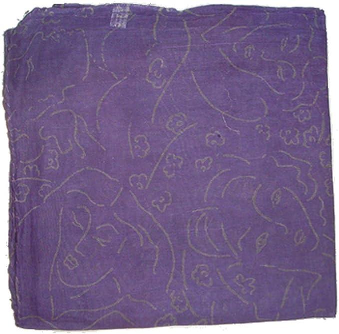 Superfreak Baumwolltuch Tuch 100x100 cm Schal 100/% Baumwolle Farbe blau 2