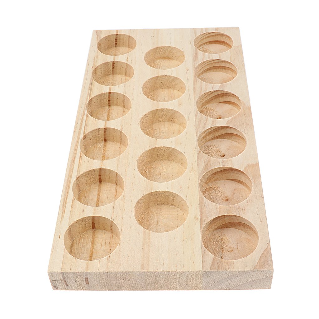 Homyl NATURAL WOOD Perfume Cosmetic Makeup Essential Oil Display Storage Organizer Rack Stand for 17 Pieces 30ml Vials by Homyl (Image #2)