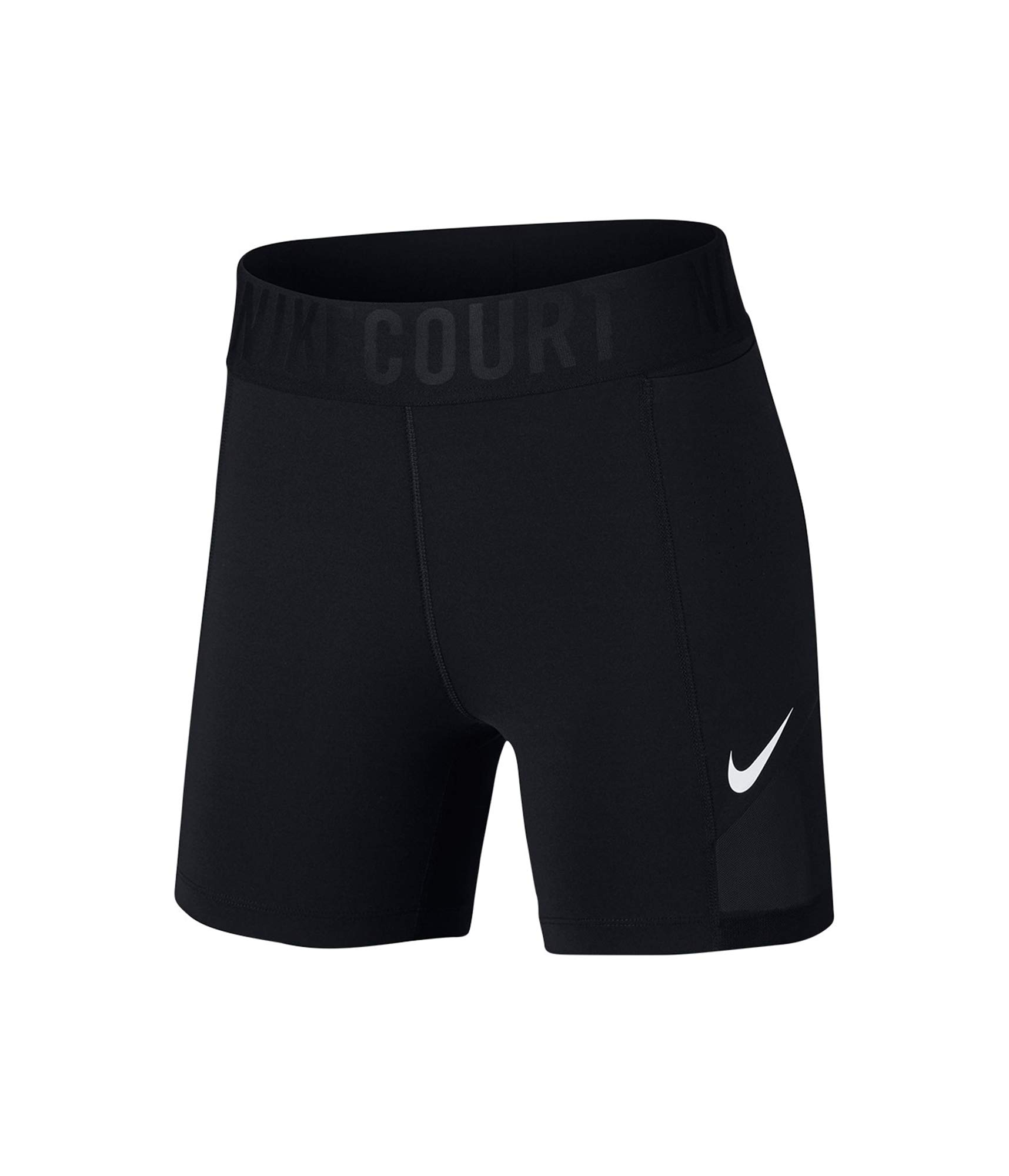 Nike Women's Court Power Tennis Shorts Black/White Small