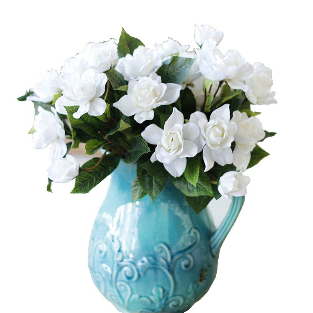 Lopkey-Upscale-Decor-Silk-Artificial-Gardenia-FlowerWhite