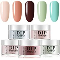 TOMICCA Dip Powder Bright Colors Set - 5 Bright Fruity Colors Dipping Powder Nails Set for French Manicure Nail Art, No…