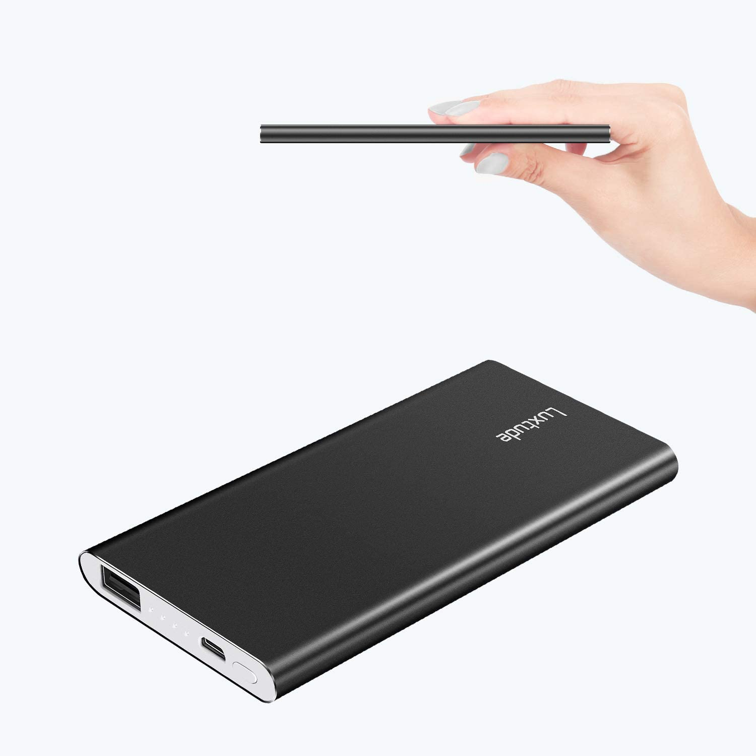 Luxtude Ultra Slim Portable Charger, 5000mAh Lightweight 2.Black (on sale)