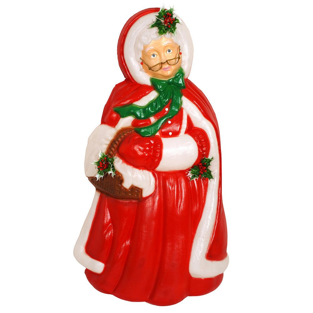Mrs. Claus Lighted Plastic