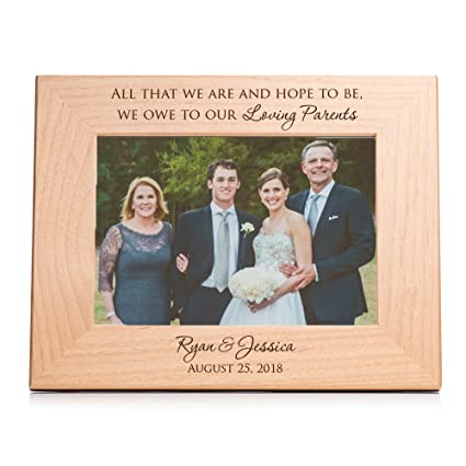 "e8b7c86c79 Lifetime Creations Personalized Parents of The Bride & Groom Picture Frame,  5"" x 7"""