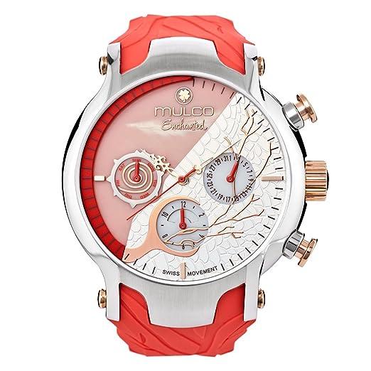 Reloj Mulco MW5-3812-633 Mujer Rosa Silicona Multifunción: Amazon.es: Relojes