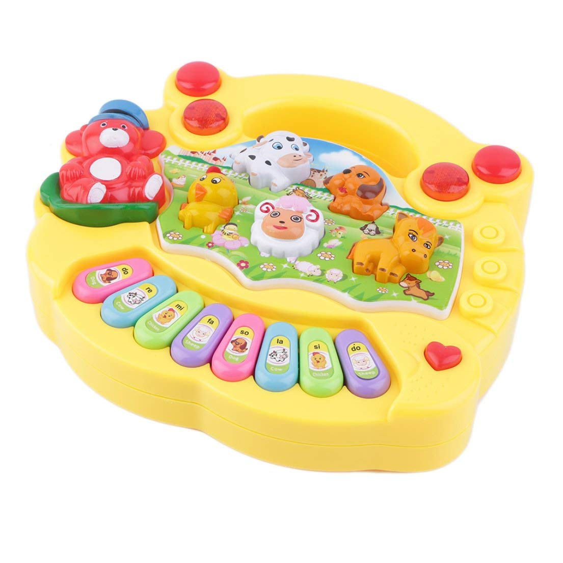 Colorful Baby Kids Musical Educational Piano Animal Farm Pattern Developmental Music Toy Children for Birthday Gift