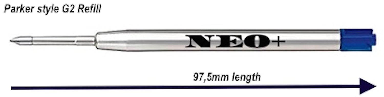 Confezione 5 ricariche per penna a sfera compatibile anche con penne Parker punta media colore rosso