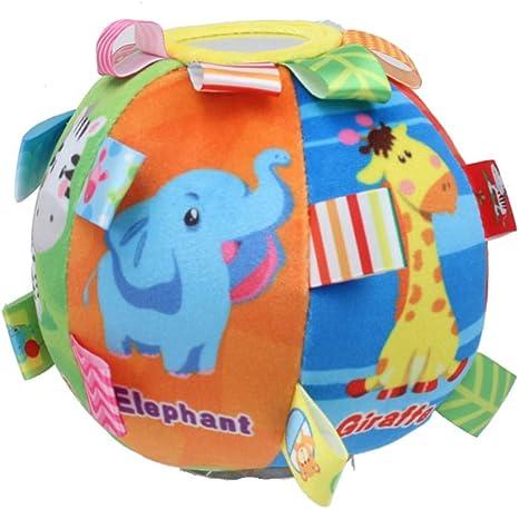 STOBOK Juguete de Bola de sonajero Animal de Dibujos Animados ...