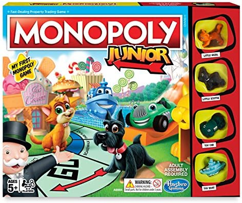 Amazon.com: Juego de mesa Monopoly Junior, -, Multicolor ...