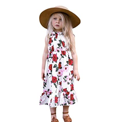 7f75b831a Amazon.com  Franterd Dress for Little Girls Sisters Matching A-Line ...