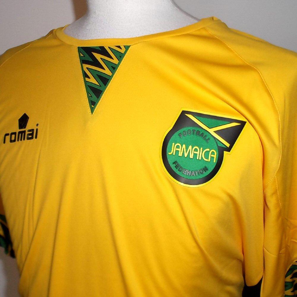 6168c7b75b7 Romai Jamaica Official National Football Home Shirt 2015-2016   Amazon.co.uk  Sports   Outdoors
