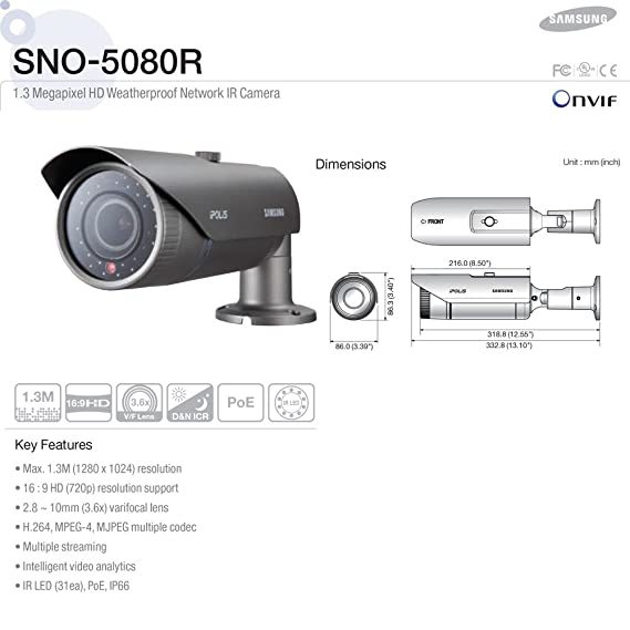 Samsung SNO-5080R Network Camera Drivers Download Free