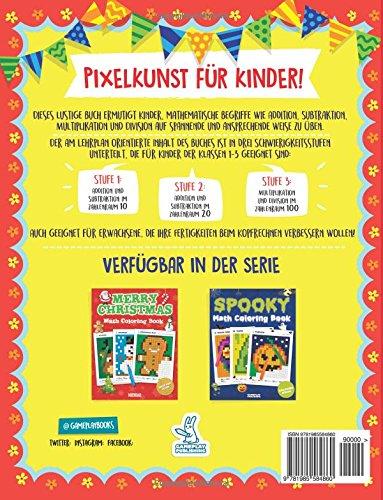 Frohe Ostern Mathe Malbuch: Pixel-Kunst für Kinder: Übungsaufgaben ...