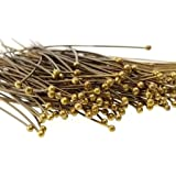 300 pcs Antique Bronze Eye Pins Jewelry Findings Tools Supplies #21B Pin