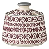 Bloomingville Ceramic Karine Sugar Bowl, Multicolor