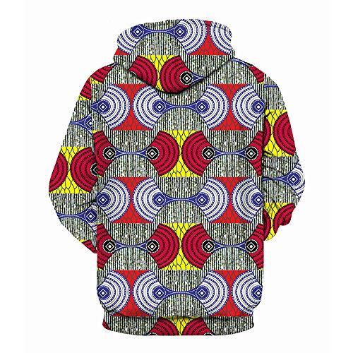 Adeshop Taille Multicolore Shirt Casual Imprimer Top Hiver Hommes Capuche 4 3d shirt Amoureux Mode Haut Blouse Grande Sweat Automne Sweat Manches Longues Lâche Lovers À Chic Femme rfS4rCqR