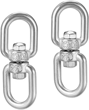 5//16 in Stainless Shackle Connector Bolts Eye to Eye 1 Pieces M8 Swivel Eye Double end Round Swivel Lifting Ring