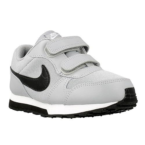 Nike MD Runner 2 (TDV), Zapatos de Primeros Pasos para Bebés, Gris (Wolf Grey/Blk-Ttl Crmsn-White), 18.5: Amazon.es: Zapatos y complementos