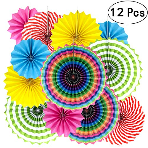 Summer Fiesta Mexican Party Hanging Decorations - Wedding Baby Shower 1st Birthday Party Carnival Party Ceiling Hangings Photo Booth Backdrops Props Decorations, 12pc
