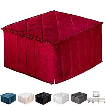 EvergreenWeb – Puf Cama Individual con colchón Plegable para Invitados, 10 cm de Altura –