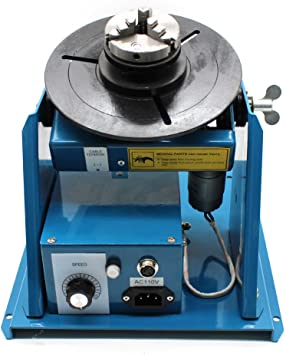 "Rotary Welding Positioner Turntable Table 2.5/"" 3 Jaw Lathe Chuck 2-20RPM 10KG US"