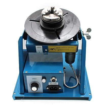 Rotary Welding Positioner, 110V Light Duty Welder Turntable