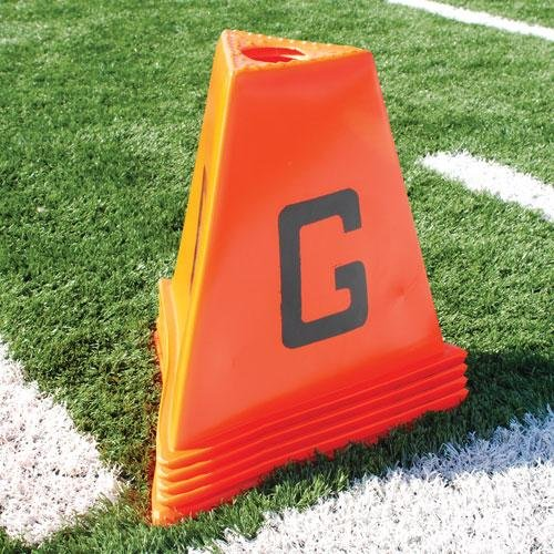 BSN Stackable Sideline Markers - 11 Piece (Set Sideline Markers Field Equipment)