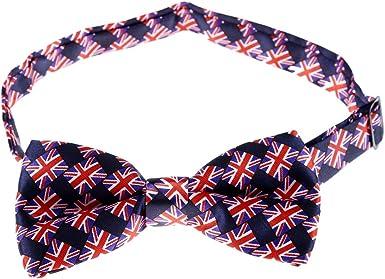 Cikuso Patron de bandera britanica azul con rojo Corbata de mono ...