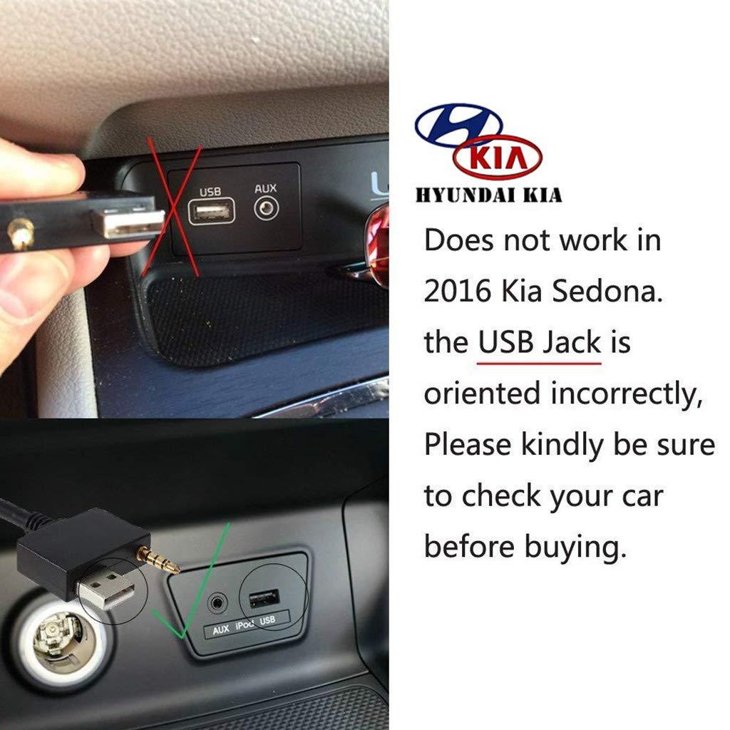 Hyundai Aux-Kabel zu USB-C-Adapter f/ür KIA nur AUX, kein Aufladen kompatibel mit Pixel 2 XL HTC U11//U12+ Samsung S9//S8//N8 Moto Z2 OnePlus 5 LG V30