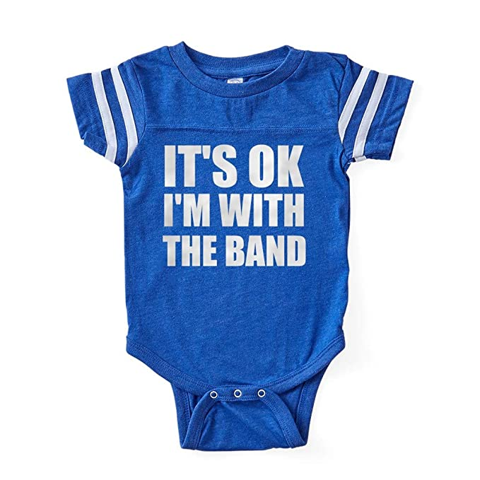 ac4d69cb Amazon.com: CafePress Its OK Im with The Band Football Baby: Clothing