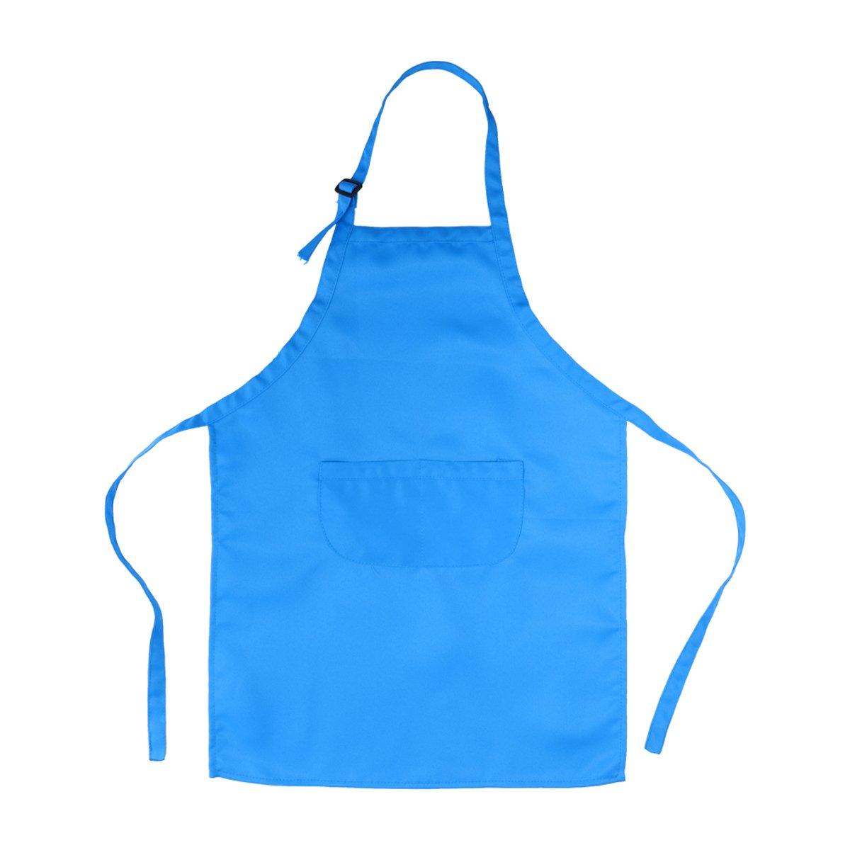 azul cielo OUNONA Juego de chef para ni/ños Kids Delantal Sombrero y manga de cocina Juego de chef para ni/ños para cocinar Pintura o decoraci/ón para hornear