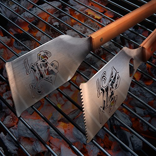 Sportula Products 7019895 Notre Dame Fighting Irish Classic Sportula Grill-A-Tongs BBQ Tool, Silver