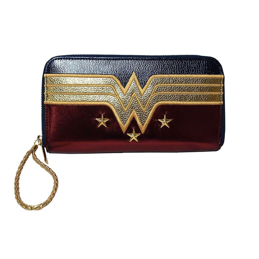 Official Licensed DC Comics Wonder Woman Logo and Stars Large Purse