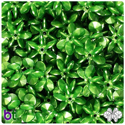 Sunburst Spacers - BeadTin Dark Green Pearl 18mm Sunburst Craft Beads (150pcs)