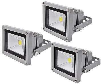 3X 10W LED Fluter Flutlicht Außen Strahler Scheinwerfer Arbeitsleuchte Warmweiß